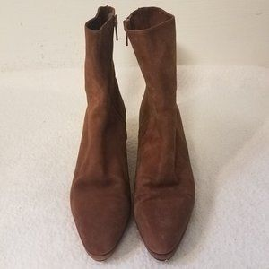 ANNE KLEIN Suede Leather Calf Boots Made in Italy